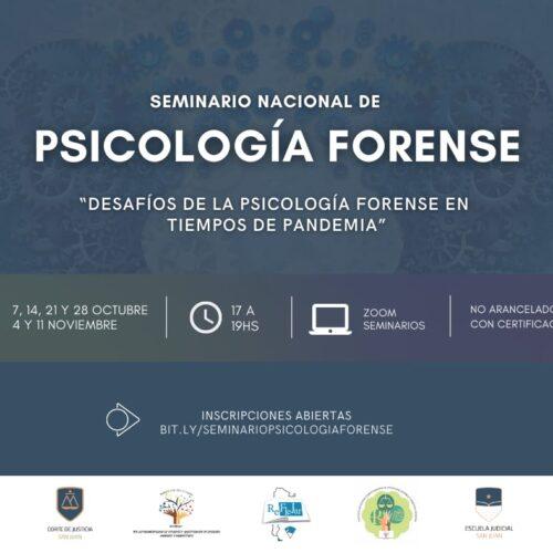 "Seminario Nacional de Psicología Forense ""Desafíos de la psicología forense en tiempos de pandemia"""