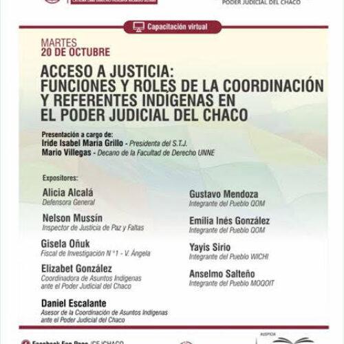 Capacitación virtual de la cátedra libre de Derecho Indígena sobre Acceso a Justicia- CEJ