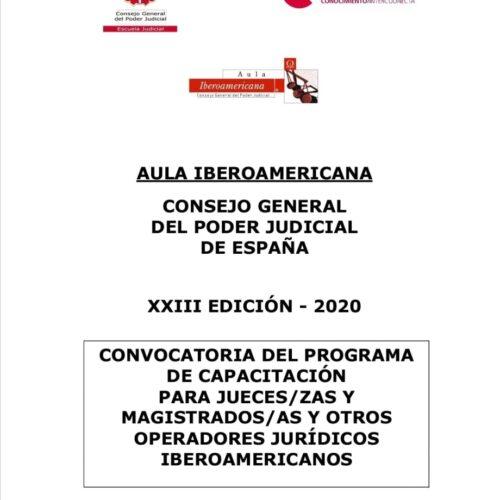 Convocatoria de cursos, en formato virtual, de la XXIII edición del Programa de capacitación AULA IBEROMERICANA para 2020