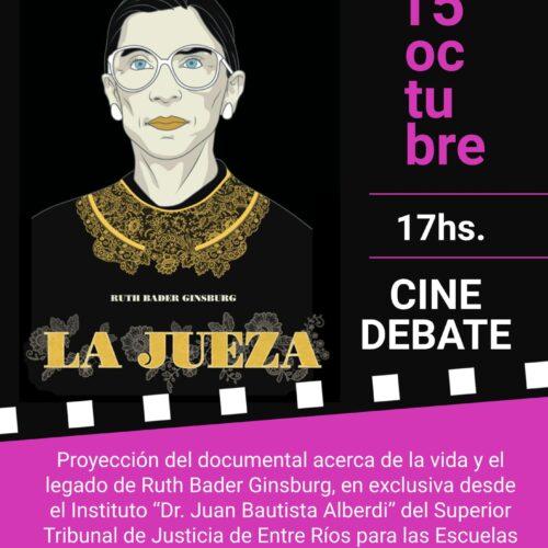 "Cine-Debate ""La Jueza""- Instituto Dr. Juan Bautista Alberdi"