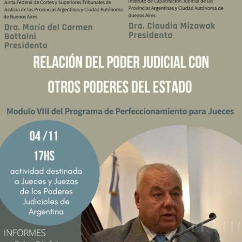 """Se encuentra abierta la inscripción al Módulo VIII """"Relación del Poder Judicial con otros Poderes del Estado"""""""