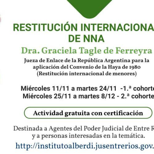 "CÁPSULA EDUCATIVA 06: RESTITUCIÓN INTERNACIONAL DE NNA – Instituto ""Dr. Juan Bautista Alberdi"" (Entre Ríos)"