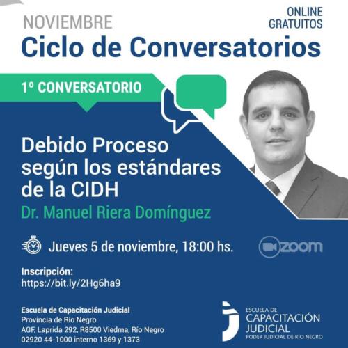 """Ciclo de Conversatorios """"DERECHO PROCESAL. CLAVES PARA UN DEBATE CONSTITUCIONAL"""""""