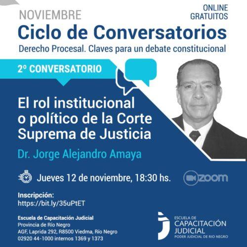 Ciclo de Conversatorios: El rol institucional o político de la Corte Suprema de Justicia