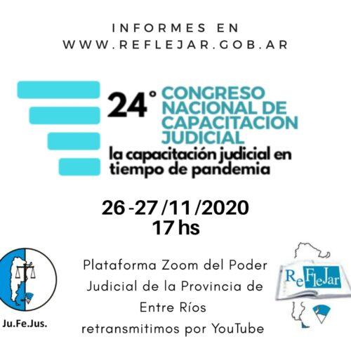 24° Congreso Nacional de Capacitación Judicial REFLEJAR
