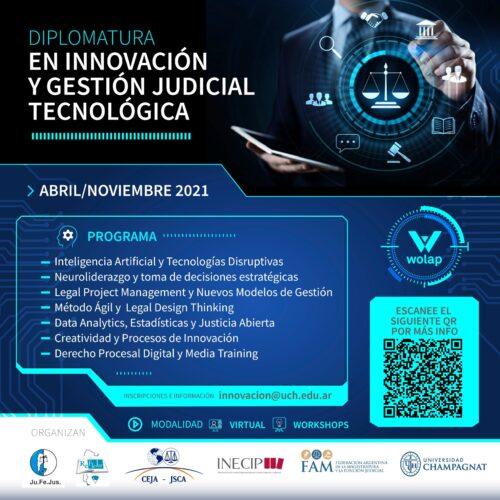 DIPLOMATURA EN INNOVACIÓN Y GESTIÓN JUDICIAL TECNOLÓGICA