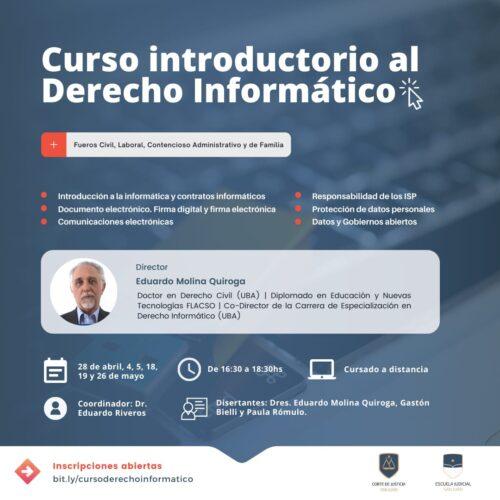Curso introductorio al Derecho Informático – Escuela Judicial San Juan