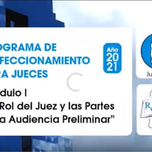"""Módulo I: """"El Rol del Juez y las Partes en la Audiencia Preliminar"""" – Dr. Daniel Erbetta"""