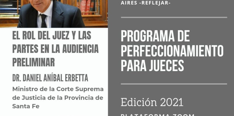 Comienza un nuevo Ciclo del Programa de Perfeccionamiento para Jueces, edición 2021