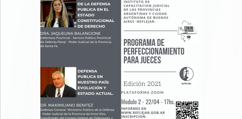 Módulo 2 del Programa de Perfeccionamiento para Jueces – 22 de abril