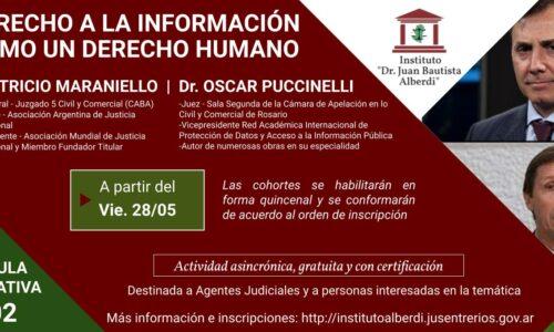 """CÁPSULA EDUCATIVA 02: DERECHO A LA INFORMACIÓN COMO UN DERECHO HUMANO (Instituto """"Dr. Juan Bautista Alberdi"""" – Entre Ríos)"""
