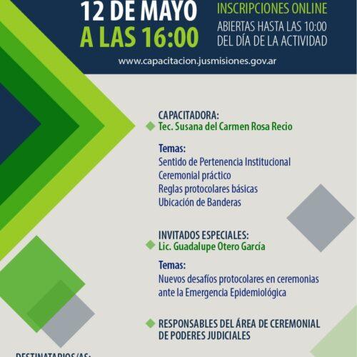 """Curso """"Organización de Eventos Judiciales y Ceremonial Práctico"""""""