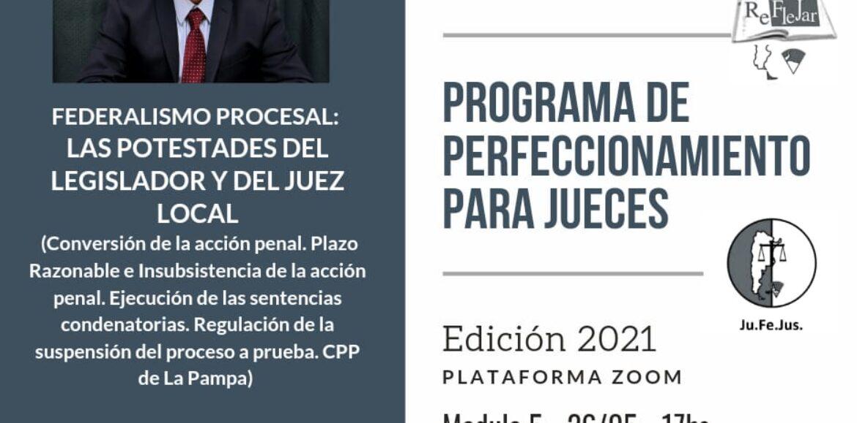 Se encuentran abiertas las inscripciones para el Módulo 5 del Programa de Perfeccionamiento para Jueces
