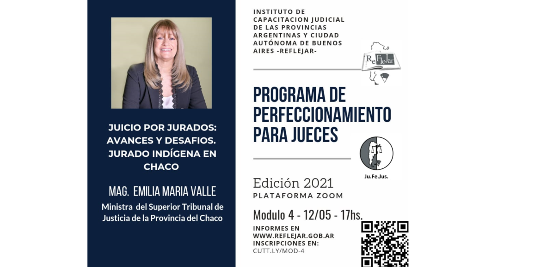12 de mayo: nuevo módulo del Programa de Perfeccionamiento para Jueces