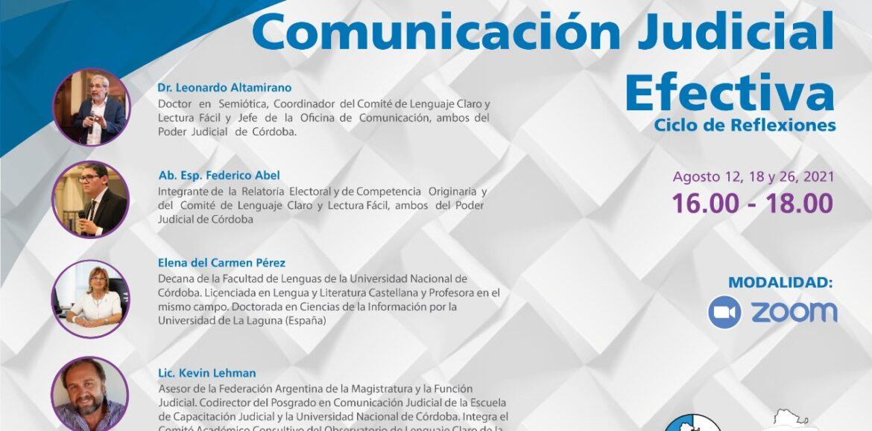 REFLEJAR y LA ESCUELA JUDICIAL DE NEUQUEN invitan al Curso Comunicación Judicial Efectiva. Ciclo de Reflexiones