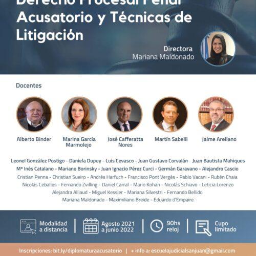 """Diplomatura """"Derecho Procesal Penal Acusatorio y Técnicas de Litigación"""""""