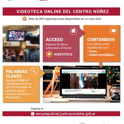 Videoteca abierta al público del Centro Núñez