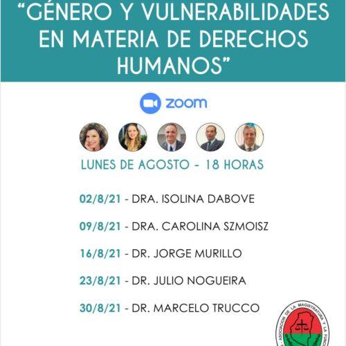 """Difusión: Capacitación en Género """"Género y vulnerabilidades en materia de Derechos Humanos"""""""