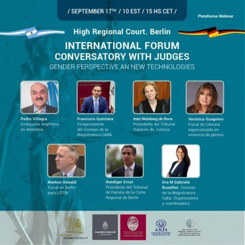 International Forum Conversatory with Judges Gender Perspective an New Technologies