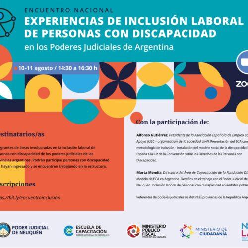 ENCUENTRO NACIONAL Experiencias de inclusión laboral de personas con discapacidad en los Poderes Judiciales de Argentina
