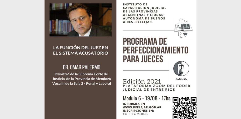 REFLEJAR invita a participar del Módulo 6 del Programa de Perfeccionamiento para Jueces