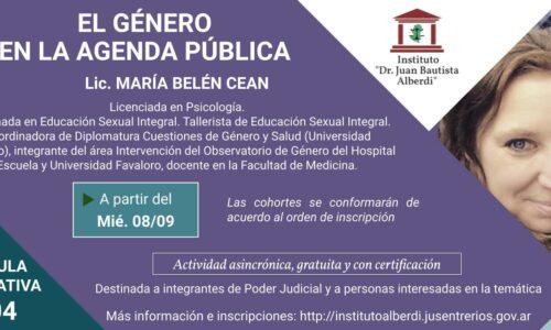 """CÁPSULA EDUCATIVA: EL GÉNERO EN LA AGENDA PÚBLICA (Instituto """"Dr. Juan Bautista Alberdi"""" – Entre Ríos)"""