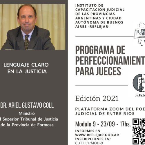 REFLEJAR invita a participar del Módulo 9 del Programa de Perfeccionamiento para Jueces