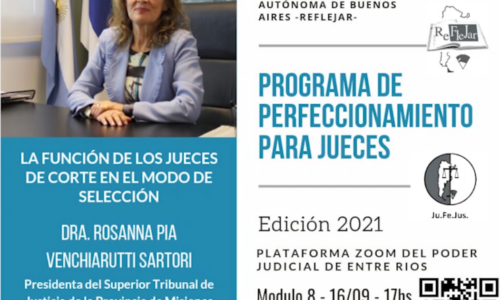 """Módulo VIII: """"LA FUNCIÓN DE LOS JUECES EN EL MODO DE SELECCIÓN"""""""