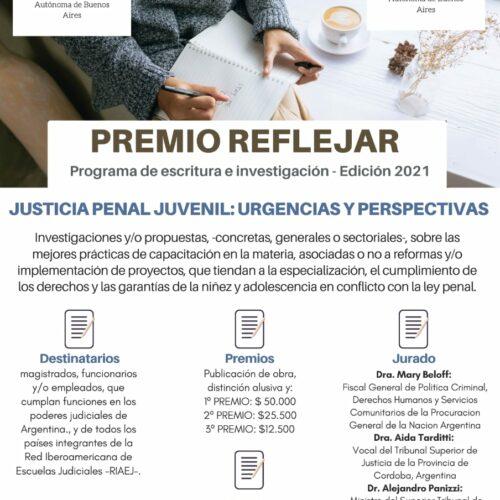"""REFLEJAR invita a participar del """"CONCURSO PREMIO REFLEJAR 2021"""""""